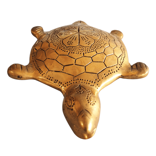 Brass Decorated Turtle